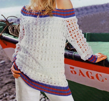 Crea un bellissimo pullover con filet all'uncinetto