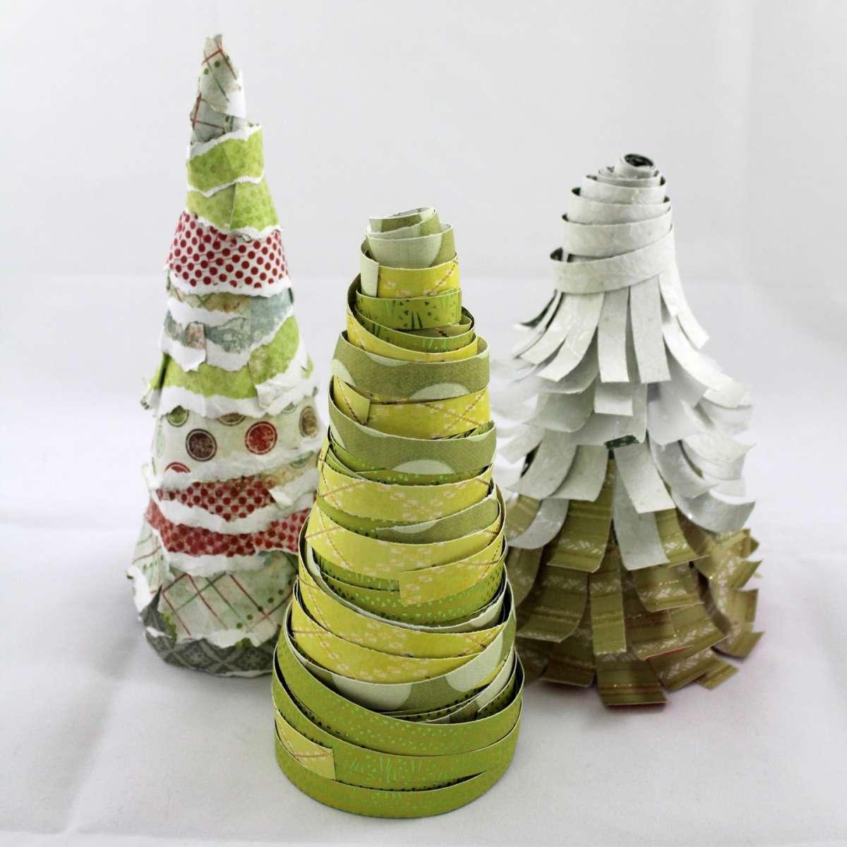 Disegni Di Natale Particolari.Alberi Di Natale Di Carta Dal Giornale Agli Origami