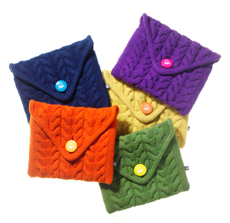 Le custodie per iPad in lana crochet by Benetton