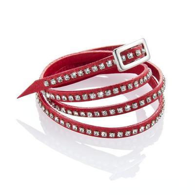 I bracciali di Bergè e Swarovski in cuoio e cristalli, perfetti per Natale