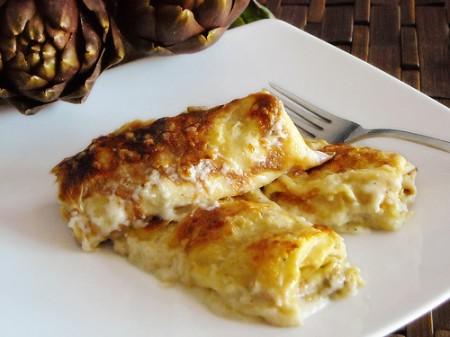 La ricetta light di Natale delle crespelle con porri e patate