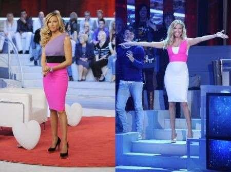 Federica Panicucci sceglie la moda di Fausto Puglisi a Domenica 5