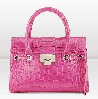 Dalla splendida linea Cruise di Jimmy Choo, la handbag Rosalie è anche fucsia!