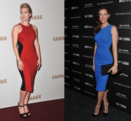 L'abito colorblock di Stella McCartney sta meglio a Liv Tyler o a Kate Winslet?