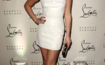 Lea Michele alla presentazione del libro di Christian Louboutin con le pumps Bye Bye
