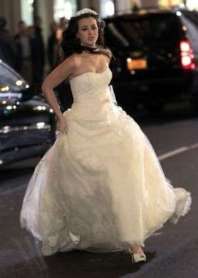In esclusiva le foto dell'abito da sposa di Blair Waldorf dal set di Gossip Girl