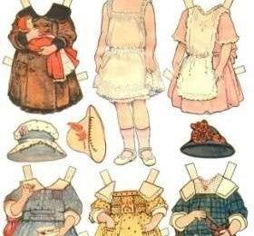 Lavoretti per bambini, creare una bambola di carta, da vestire con abiti presi dalle riviste