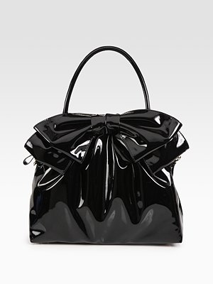 valentino borsa vernice nera