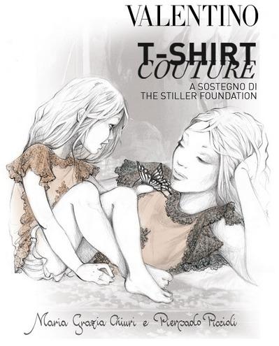 Le Valentino T-shirt Couture per la Stiller Foundation, aiutare i bambini è un dovere