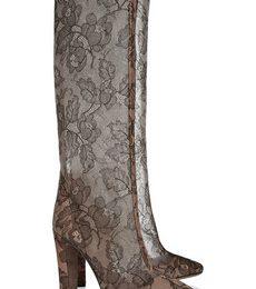 Stivali Valentino con gambale trasparente in pizzo, assolutamente da avere