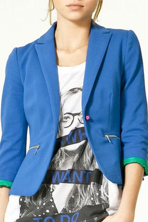 zara blazer blu