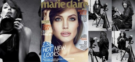Angelina Jolie su Marie Claire di gennaio parla d'amore, di amicizia, di Brad, e di figli…