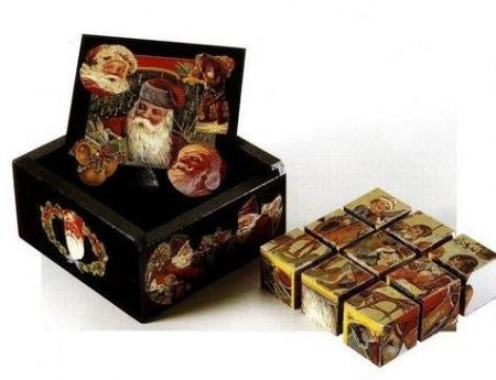 Lavoretto natalizio per decorare una scatola a festa in decoupage