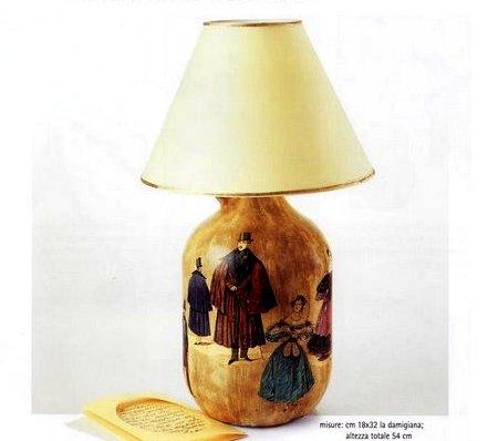 Decoupage creativo per decorare con fantasia una lampada