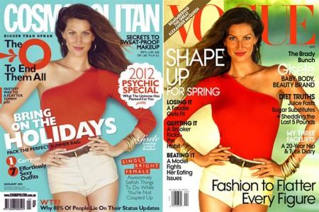 Gisele Bundchen, stessa foto su Cosmopolitan Australia e Vogue US