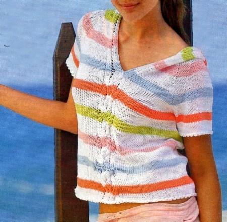 Lavori a maglia, crea la tua maglietta a righe con cappuccio per la primavera