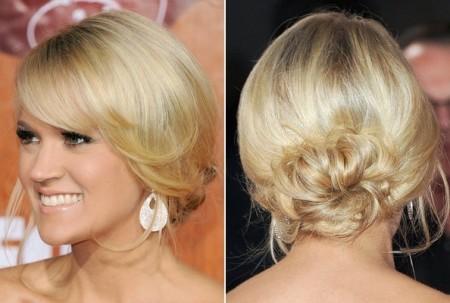 Acconciature capelli: uno splendido raccolto per Carrie Underwood