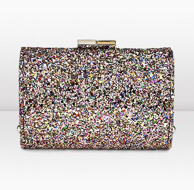 Clutch glitter Jimmy Choo, la nuova Minitube ideale per Capodanno