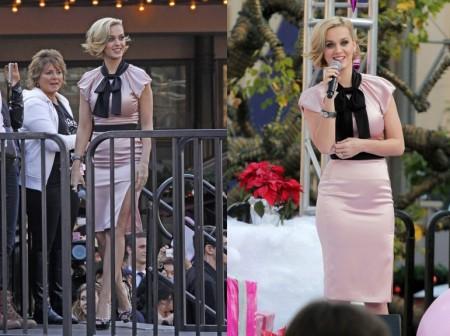 Katy Perry e lo stile bon ton di Moschino e Valentino per il lancio di Meow