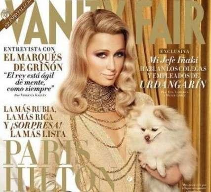 Look scintillante per Paris Hilton sulla copertina di Vanity Fair Spagna