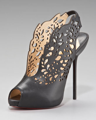 louboutin ankle boot laser