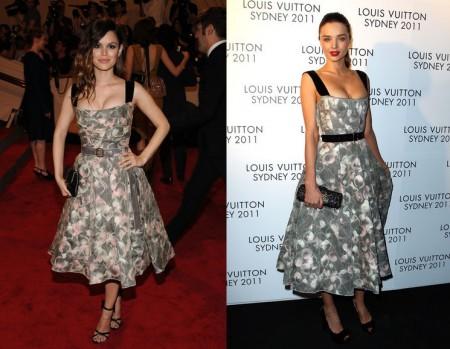 Louis Vuitton: stesso abito per Rachel Bilson e Miranda Kerr, chi preferite?