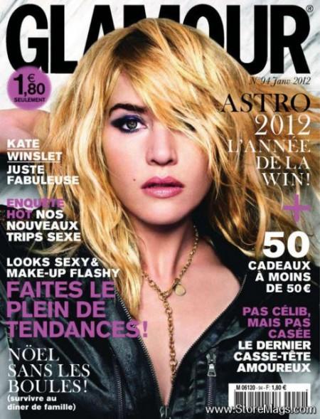 Make up occhi aggressivo per Kate Winslet sulla copertina di Glamour France