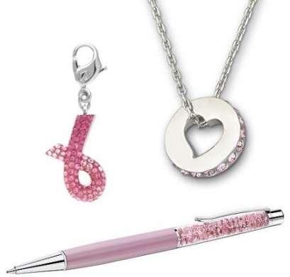 """I regali di Natale """"Pink Hope"""" di Swarovski per combattere il tumore al seno"""