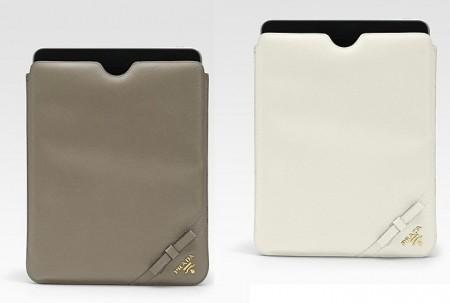 La romantica custodia per iPad di Prada in Saffiano