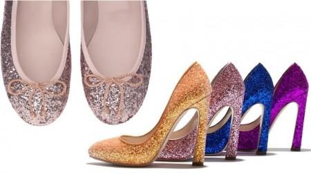 scarpe scintillanti natale
