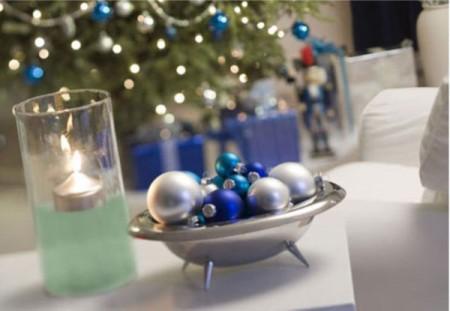 Come addobbare la tavola di Natale 2011, decorazioni nelle tonalità del blu
