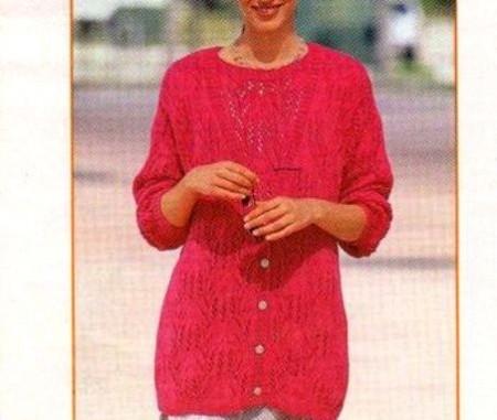 Lavori a maglia per creare un bellissimo cardigan rosa