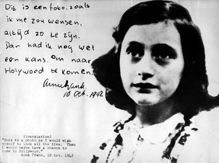 Giorno della memoria Anna Frank