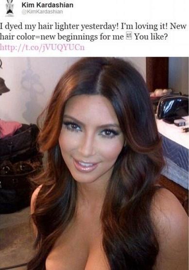 Capelli chiari per Kim Kardashian? Le foto su Twitter