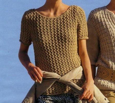 Lavori a maglia, crea un pullover color caramello