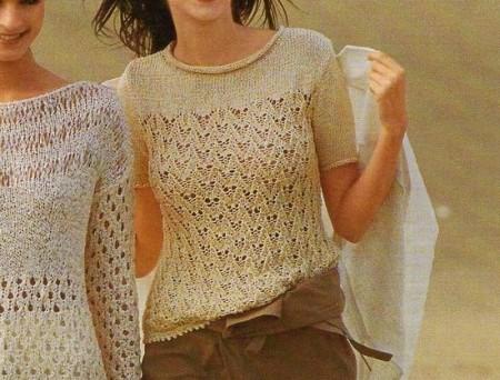 Lavori a maglia, crea una leggera t-shirt ai ferri