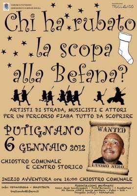 Festa della Befana 2012 per i bambini a Putignano: aiutiamola a ritrovare la scopa