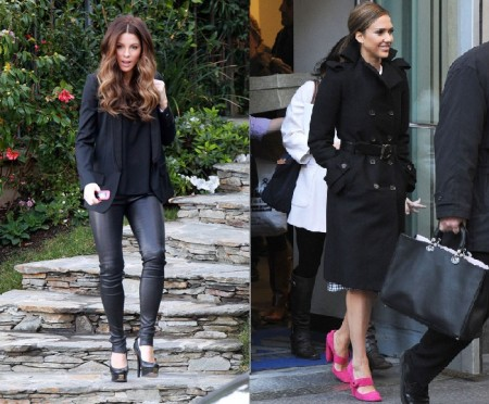 Fendi e Prada, scarpe glamour per Jessica Alba e Kate Beckinsale