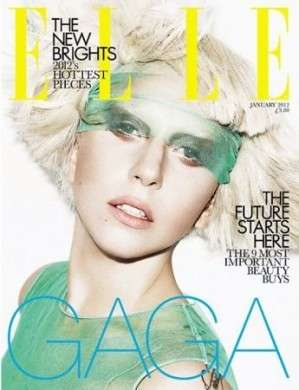 Trucco leggero per Lady Gaga sulle copertine di Elle UK