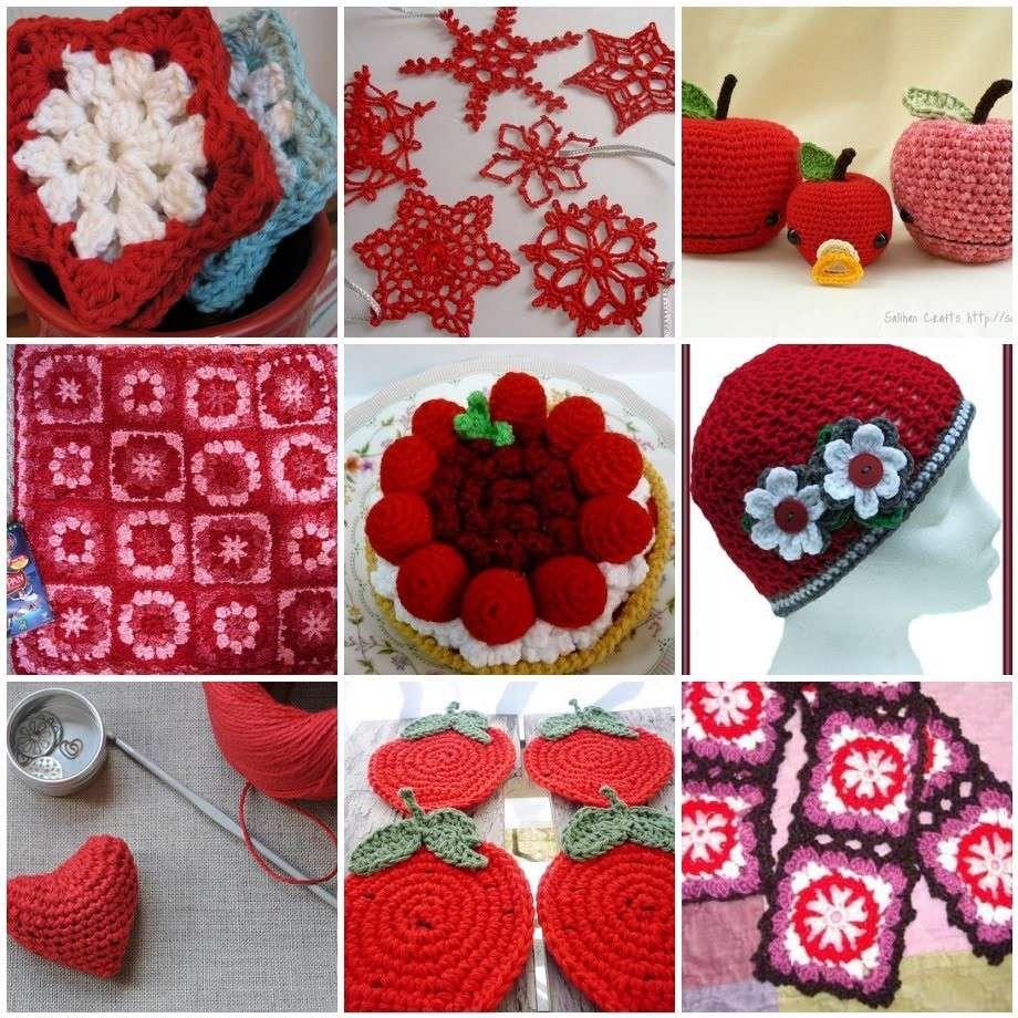 Lavori a maglia e alluncinetto per San Valentino