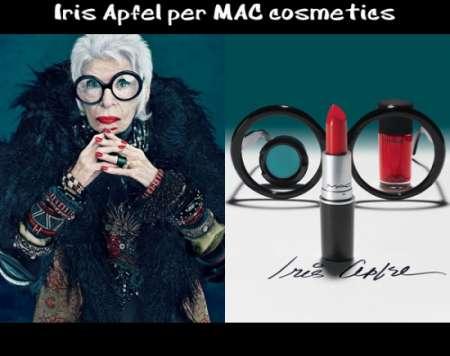 Mac Cosmetic, la novantenne Iris Apfel è la nuova testimonial