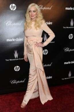 Un make up da dimenticare per Lindsay Lohan al party HBO