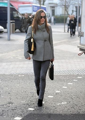 Pippa Middleton con la nuova borsa Gucci