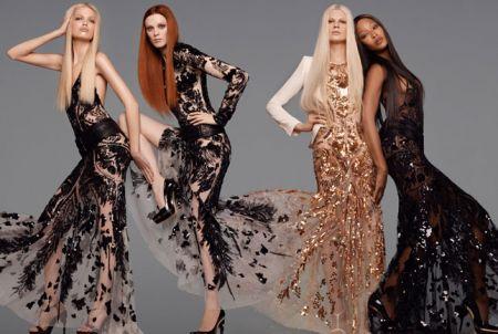 Roberto Cavalli sceglie quattro super top model per la campagna primavera estate 2012