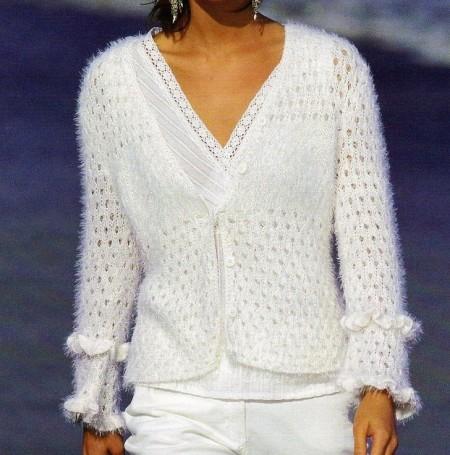 Lavori a maglia: crea una giacchina con ruche