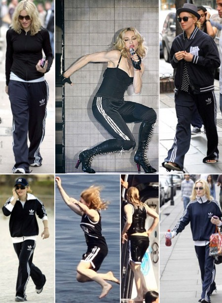Madonna ha una passione sfrenata per le tute Adidas