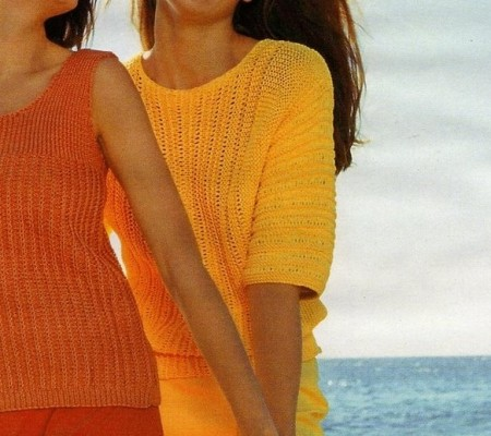 Lavori a maglia: crea una t-shirt a punti operati