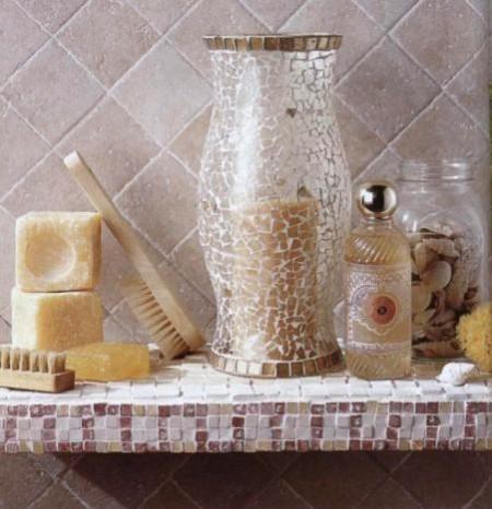 Decorazioni fai da te: crea un mosaico pompeiano sulla mensola