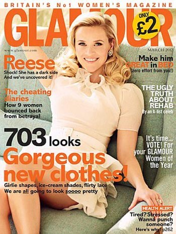 Reese Witherspoon su Glamour: boccoli chic e look retrò da copiare