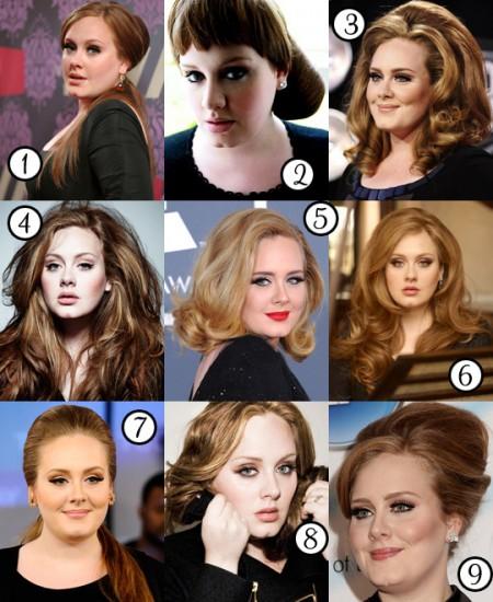 Le migliori acconciature di Adele, come la preferite?